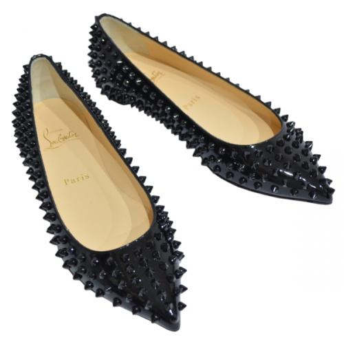 Christian Louboutin クリスチャンルブタン PIGALLE SPIKES FLAT スタッズシューズ R2-105766