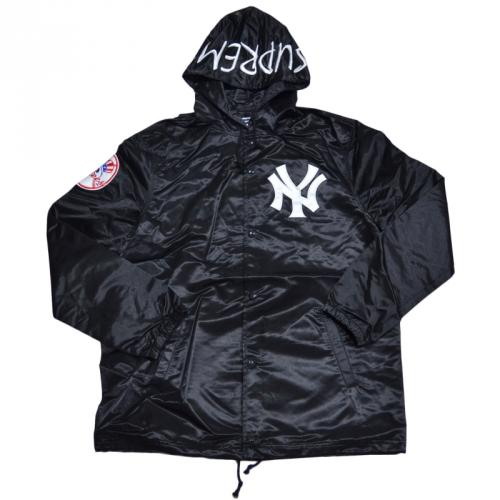 SUPREME シュプリーム Yankees Satin Hooded Coaches Jacket コーチジャケット R2-129988