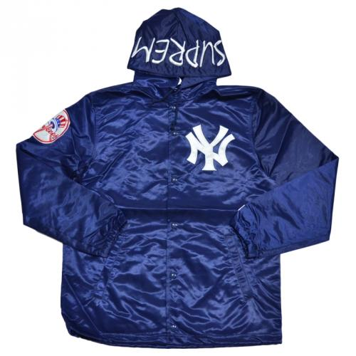SUPREME シュプリーム Yankees Satin Hooded Coaches Jacket コーチジャケット R2-130021
