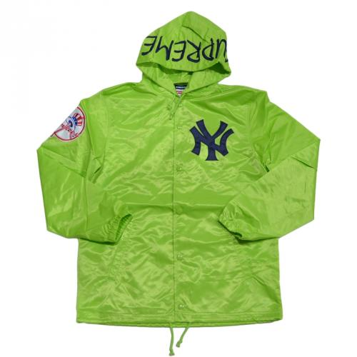 SUPREME シュプリーム Yankees Satin Hooded Coaches Jacket コーチジャケット R2-130032