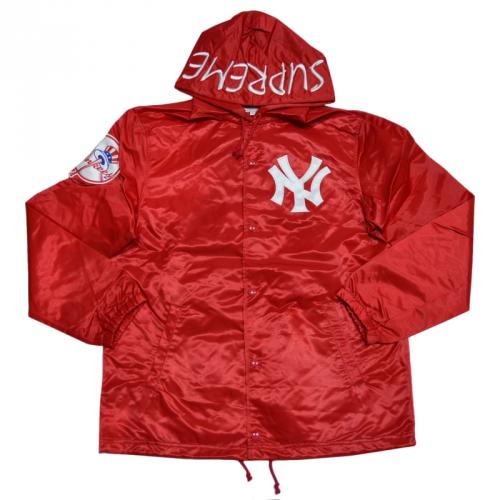 SUPREME シュプリーム Yankees Satin Hooded Coaches Jacket コーチジャケット R2-130043