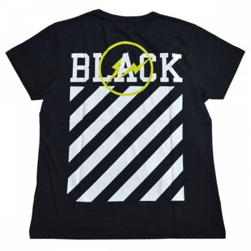 OFF-WHITE オフホワイト × Fragment Design OFF-BLACK オフブラック BLACK TEE Tシャツ R2-178256