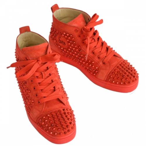 Christian Louboutin クリスチャンルブタン LOUIS FLAT VEAU VELOURS / SPIKES ベロア スパイク スタッズ スニーカー R2-193414
