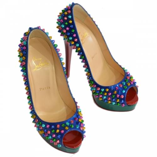 Christian Louboutin クリスチャンルブタン LADY PEEP SPIKES スタッズ スパイク パンプス R2-195614